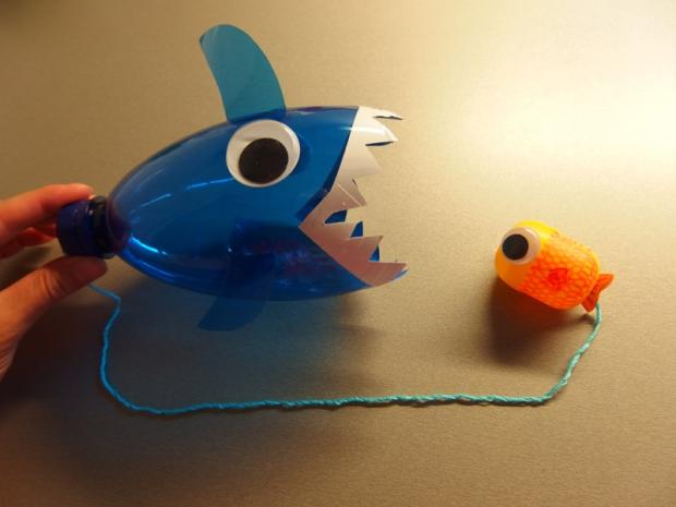 Recyhračka pre deti...žralok a rybička  11