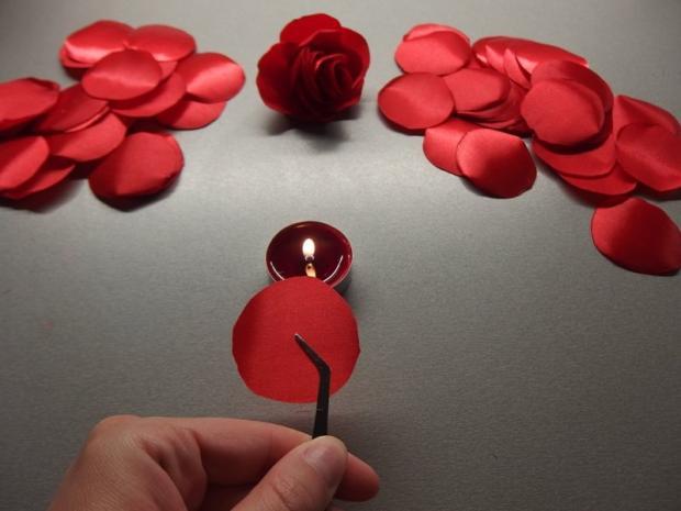 Španielska ruža- spona zo stuhy 3