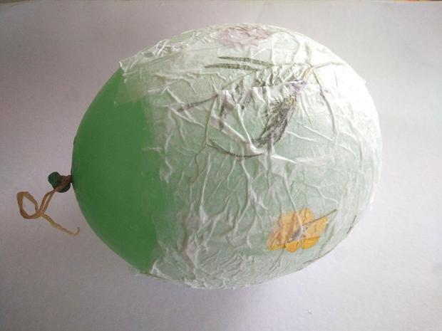 Návod na papierový lampión 6