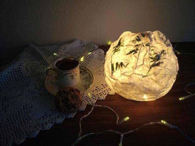 Návod na papierový lampión 7
