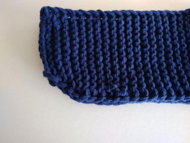 Pletené papuče modré 2