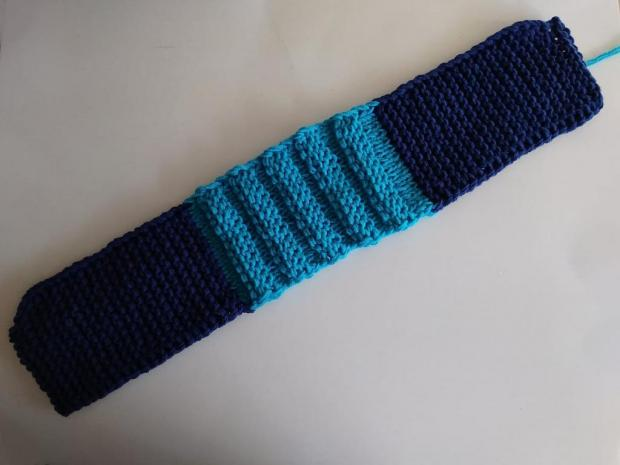 Pletené papuče modré 3