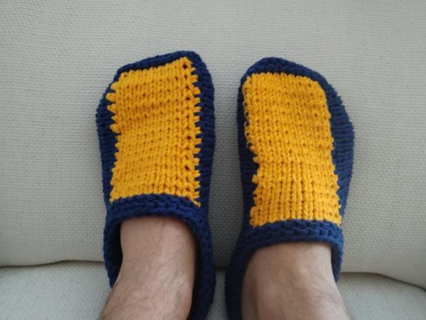 Návod na pánske pletené papuče 1