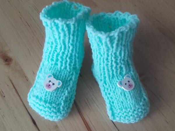 Pletené papučky pre bábo 6