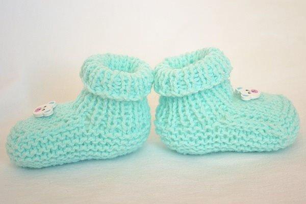 Pletené papučky pre bábo 1
