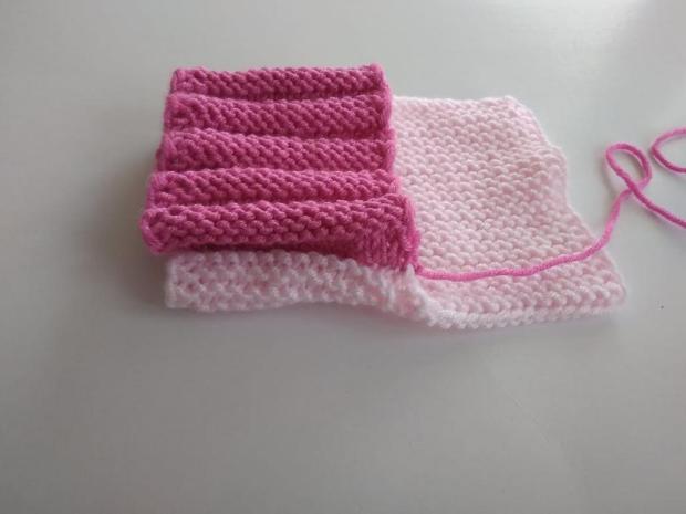 Dvojfarebné pletené papučky 4