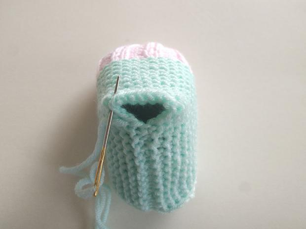 Jednoduché pletené papučky 8