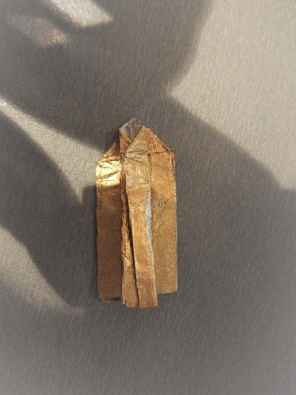 prstienky z pozlátkového papiera  10