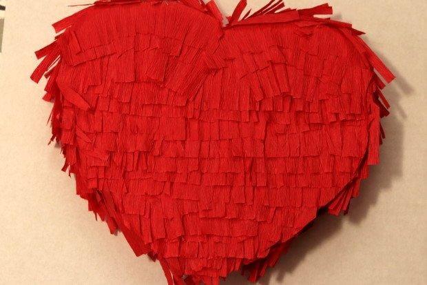 Valentínska piňáta - fotopostup 11