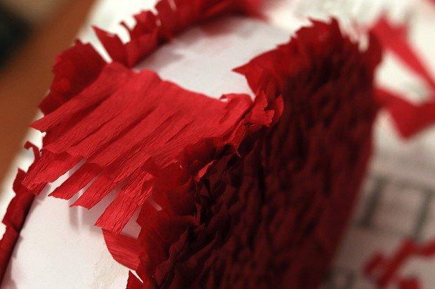 Valentínska piňáta - fotopostup 12