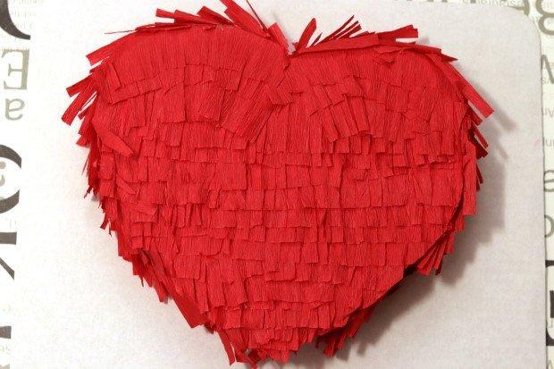 Valentínska piňáta - fotopostup 14