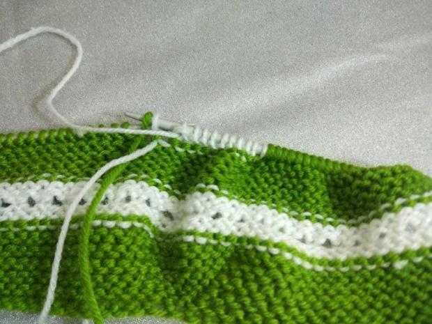 Návod na pletené  papučky pre bábätko 6