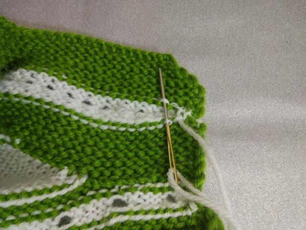 Návod na pletené  papučky pre bábätko 13