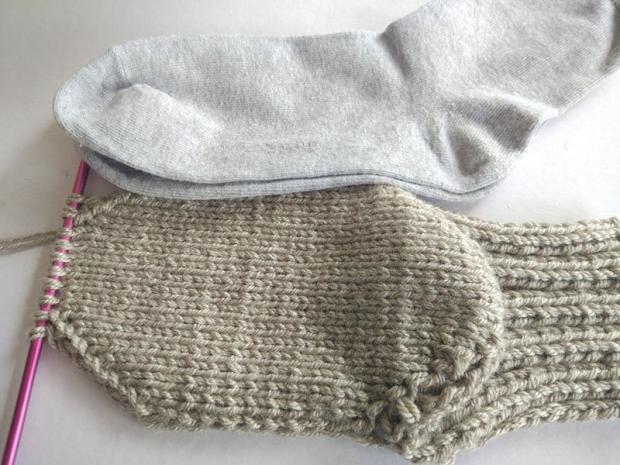 Ponožky pletené na dvoch ihliciach 9