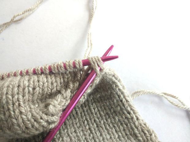 Ponožky pletené na dvoch ihliciach 10