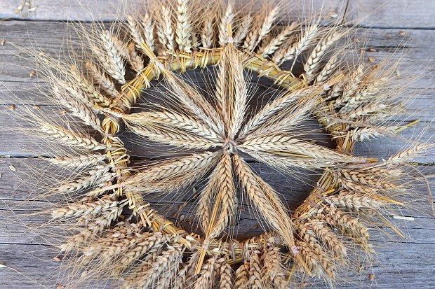 Fotopostup na rustikálny veniec z obilia 18