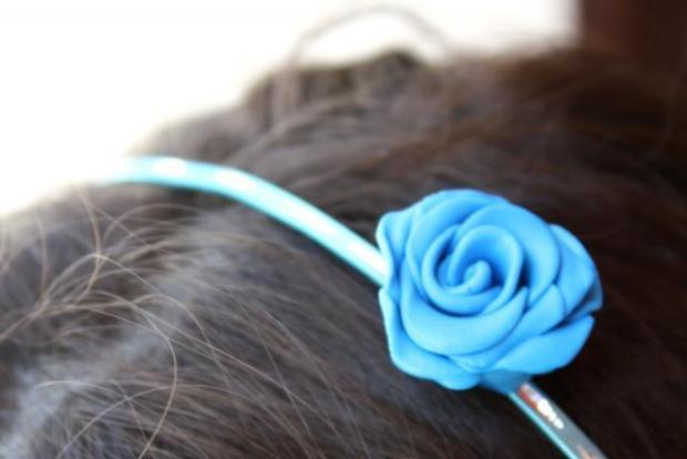 Fotopostup na jednoduchú ružičku z Fimo 9