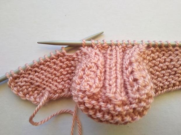 Pletené ponožky pre bábätko 4