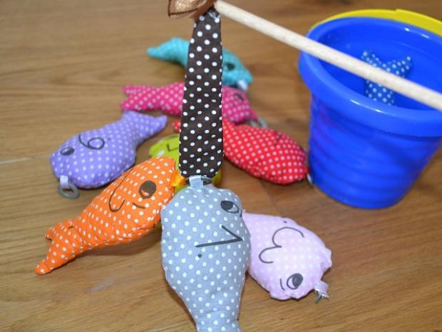 Šité rybičky na lovenie, rybačka, návod, Dasa_