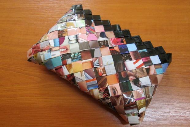Fotopostup na spájanie dielikov na papierové kabelky 1