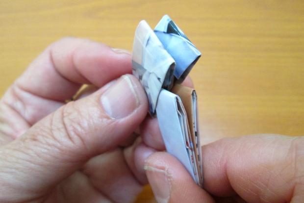 Fotopostup na spájanie dielikov na papierové kabelky 4