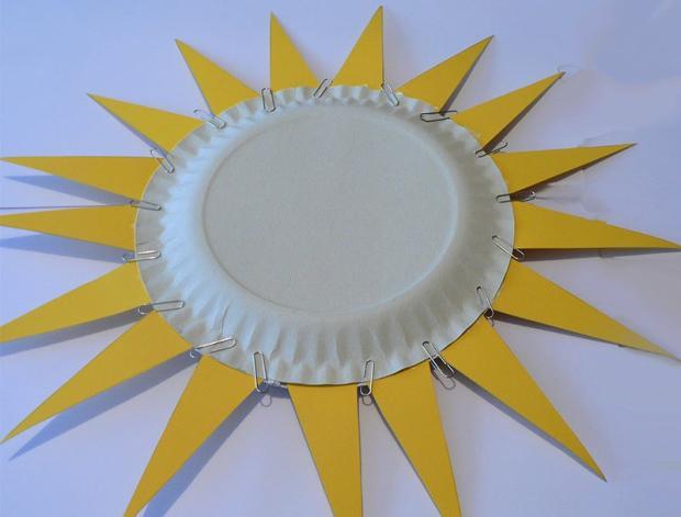 Slnko z papierového taniera 4