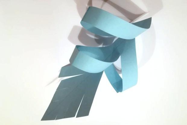 3D snehová vločka z papiera - videopostup 3