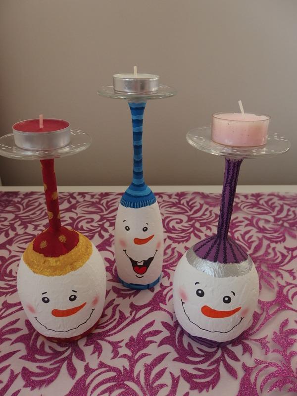 Snehuliakové svietniky 5