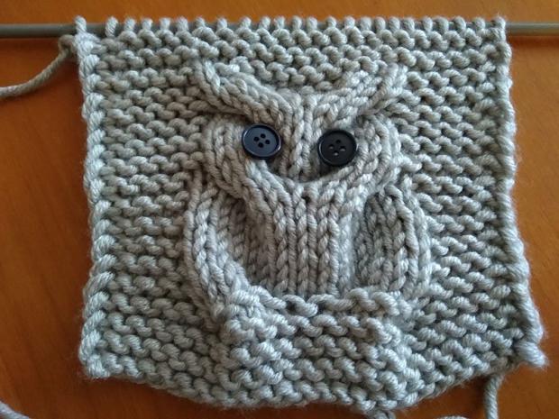 Pletená deka so sovami 3