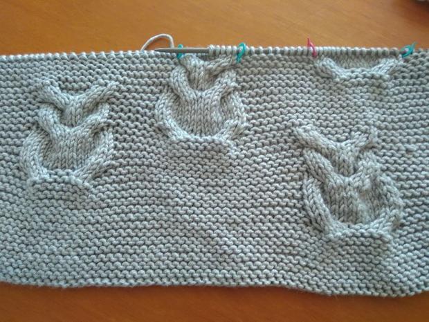 Pletená deka so sovami 11