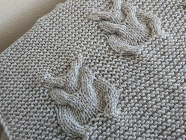 Pletená deka so sovami