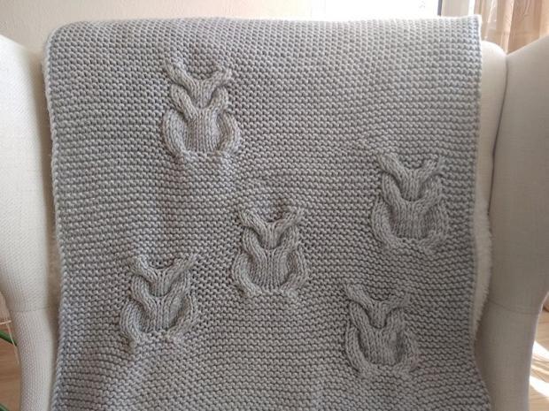 Pletená deka so sovami 12
