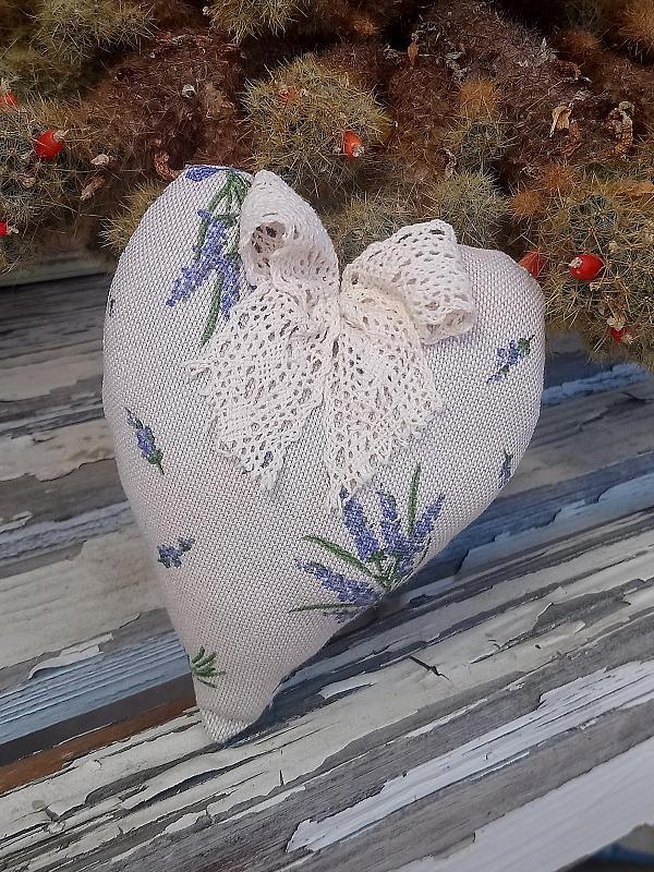 Srdce plnené levandulou 1