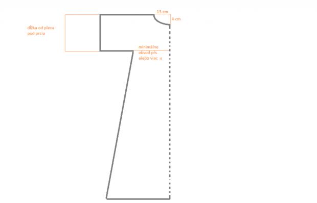 Jednoduché letné maxi šaty bez strihu 1. Prerušovaná čiara je to 2c616962475
