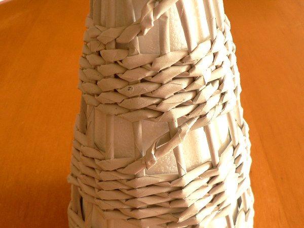 Fotopostup na papierové pletenie - pletený stromček I. 6