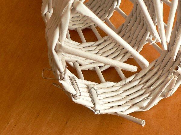 Fotopostup na papierové pletenie - pletený stromček I. 10
