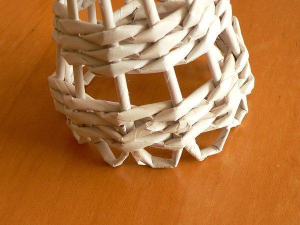 Fotopostup na papierové pletenie - pletený stromček I. 11