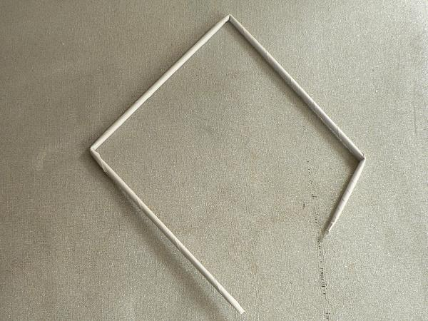Fotopostup na papierové pletenie - pletený stromček II. 1