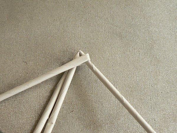 Fotopostup na papierové pletenie - pletený stromček II. 3