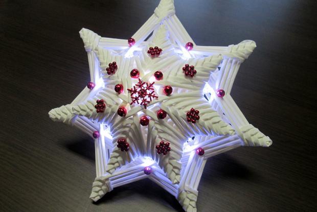 Fotopostup na svietiacu vianočnú hviezdu z papletu 1