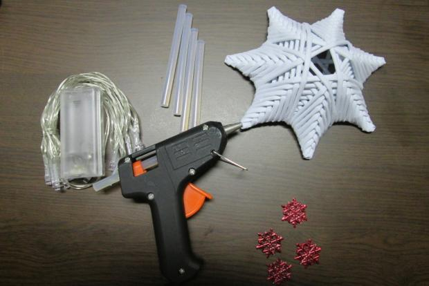 Fotopostup na svietiacu vianočnú hviezdu z papletu 21