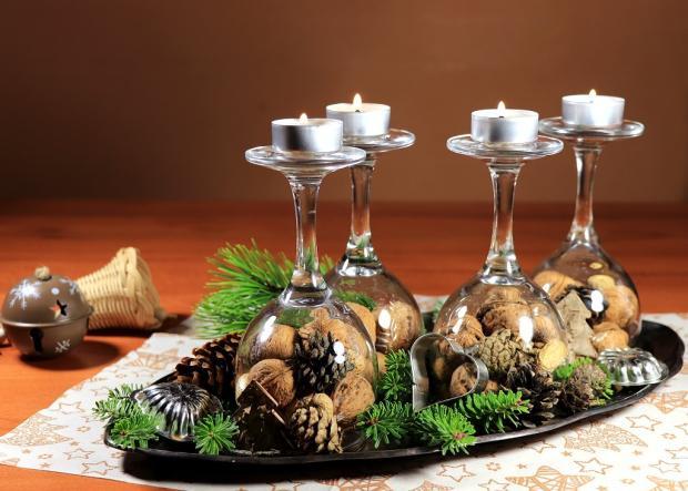 Štyri jednoduché a rýchle adventné svietniky v pohároch 6