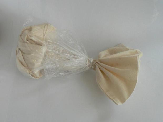Ako zafarbiť tašku: melónový vzor - batika 1