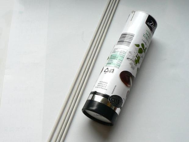 Fotopostup na papierové pletenie - pletený venček 2
