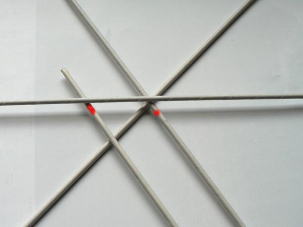 Fotopostup na papierové pletenie - pletený venček 3