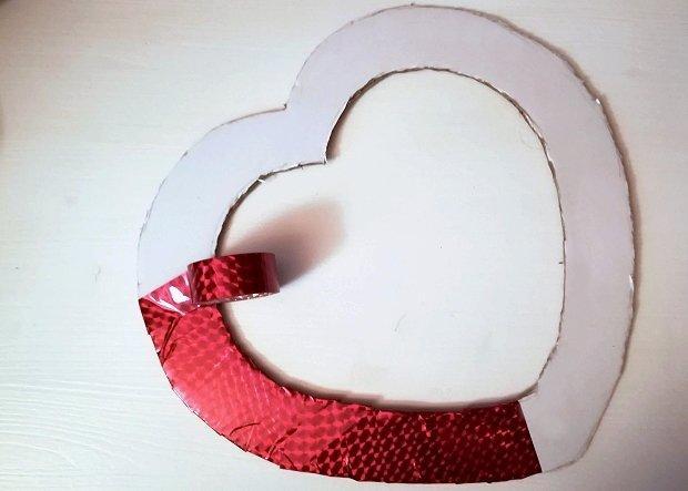 Postup na sladký valentínsky veniec 1