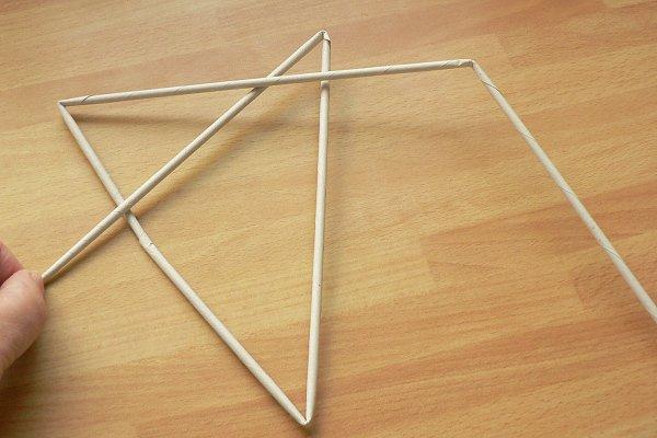 Fotopostup na papierové pletenie - pletená päť a šesťramenná hviezda 3