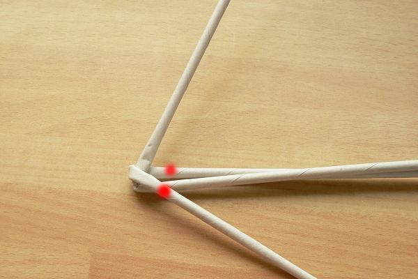 Fotopostup na papierové pletenie - pletená päť a šesťramenná hviezda 12