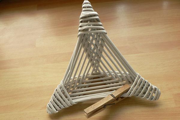 5becde3b9 Fotopostup na papierové pletenie - pletená päť a šesťramenná hviezda ...