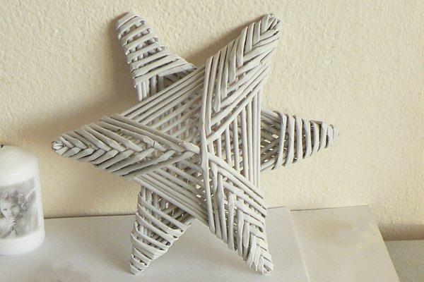 Fotopostup na papierové pletenie - pletená päť a šesťramenná hviezda 20